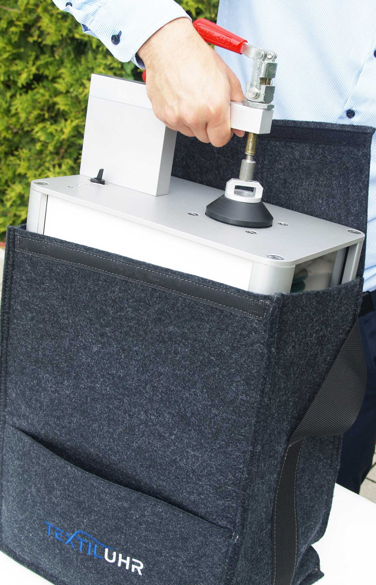 New air permeability tester from F.O.S. for quality testing of textiles