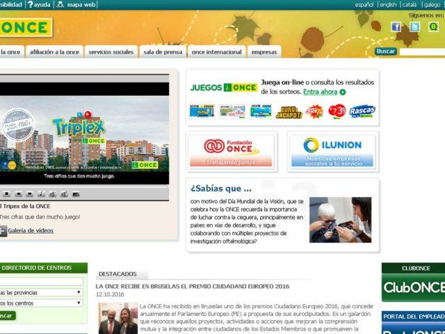 La ONCE moderniza su portal ClubONCE