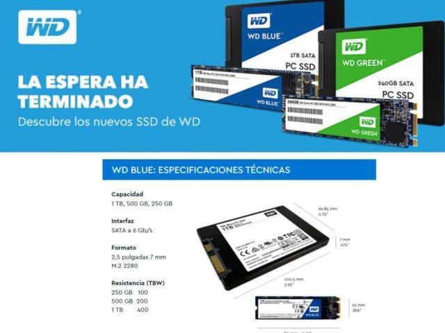 Descubre los nuevos SSD de WD, SSD WD Blue y WD Green