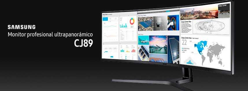 Samsung anuncia el monitor profesional CJ89 ultrapanorámico