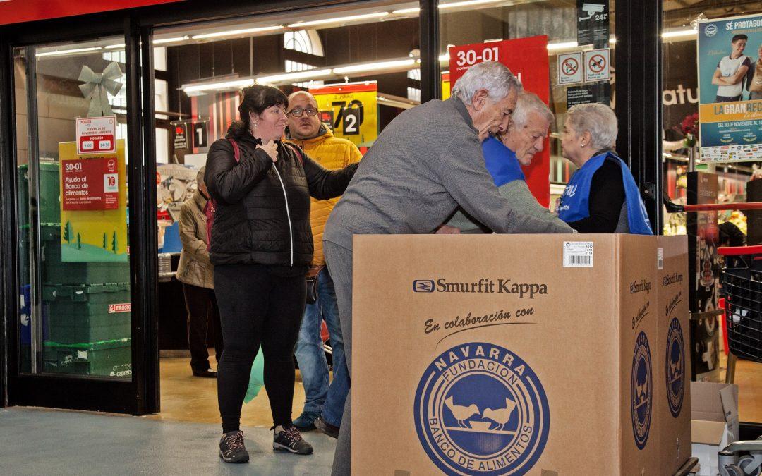 Smurfit Kappa colabora en La Gran recogida de Alimentos con embalajes de cartón ondulado y bolsas de papel