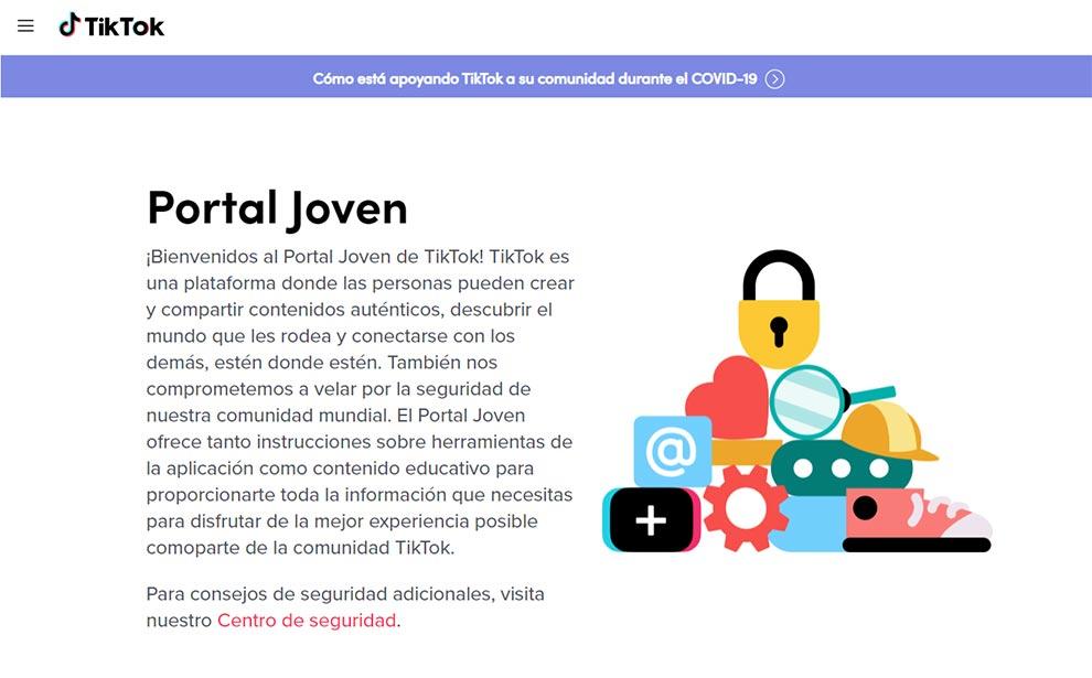 """TikTok lanza su """"Portal Joven"""""""