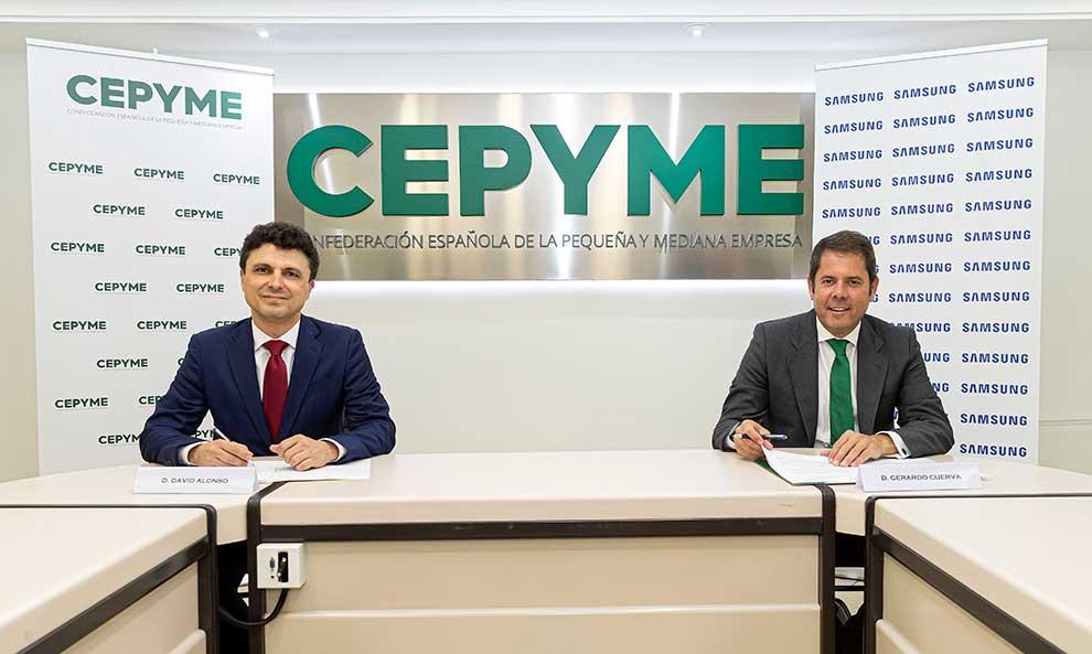 Samsung y CEPYME firman un acuerdo