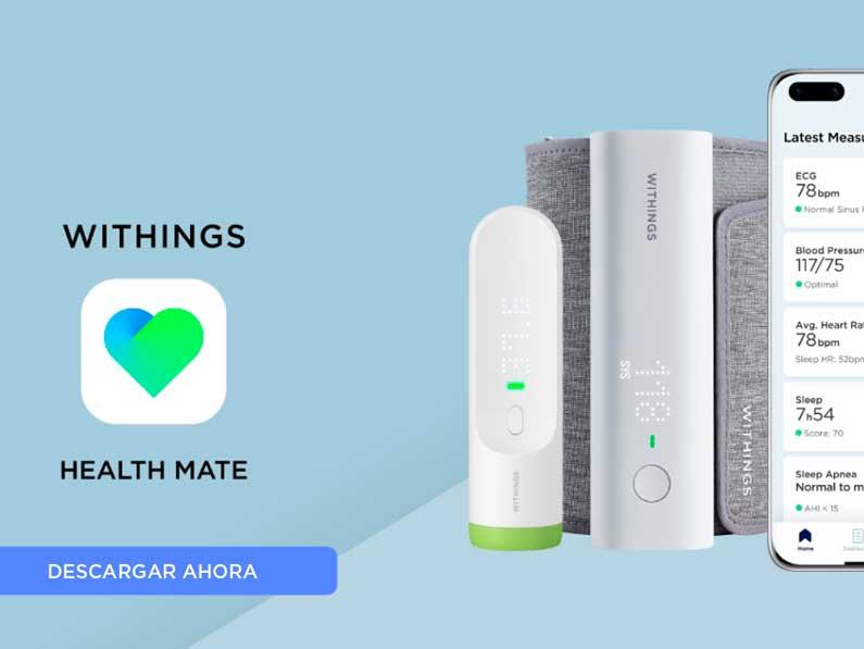 Disponible Health Mate, la app de tecnología de la salud de Withings