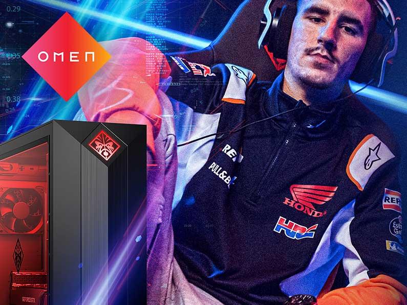 OMEN se une al equipo Repsol Honda en las competiciones virtuales de MotoGP