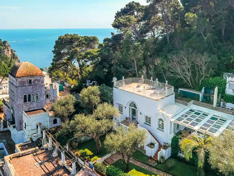 La villa de Christian De Sica en Capri está en venta