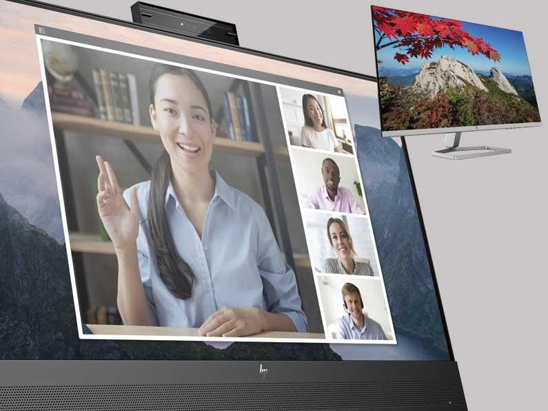 HP presenta nuevos monitores diseñados para trabajar, estudiar y divertirse