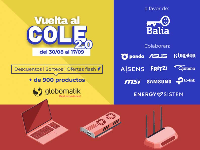 VueltaalCole con Globomatik y más de 900 ofertas